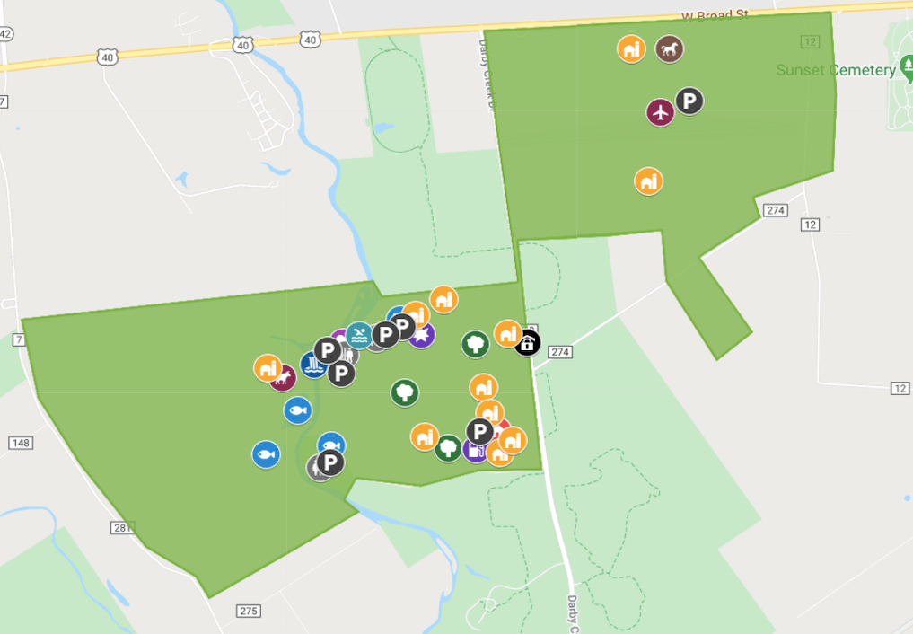 Property map of for Darby Dan Farm filming locations