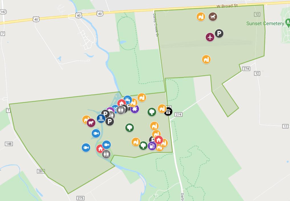 Property map of Darby Dan Farm